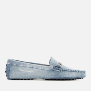 Tod's Women's Gommino Denim Driving Shoes - Light Denim