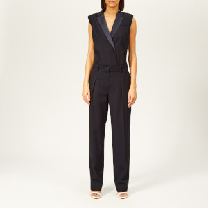 Victoria, Victoria Beckham Women's Sleeveless Jumpsuit - Midnight