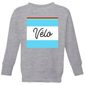 Summit Finish Velo Kids Sweatshirt - Grey