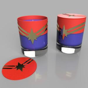 Captain Marvel Crest Candle