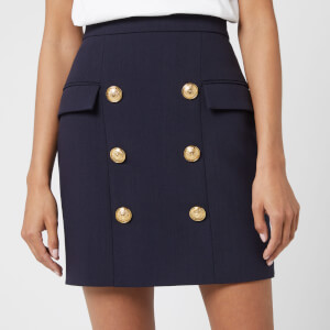 Balmain Women's Short High Waist Skirt - Blue