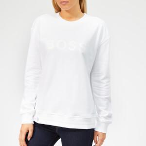 BOSS Casual Women's Talastic Sweatshirt - White