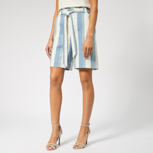 BOSS Women's Sanotta Shorts - Blue/White