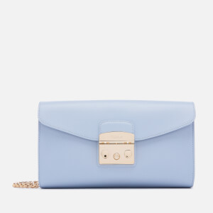 Furla Women's Metropolis Small Pochette with Chain - Blue