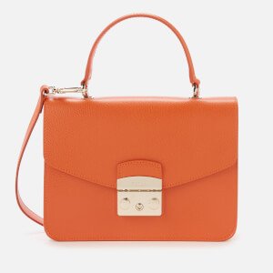 Furla Women's Metropolis Small Top Handle Bag - Mandarin