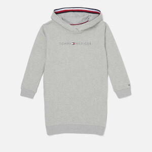 Tommy Hilfiger Girls' Essentials Hoodie Dress - Light Grey Heather
