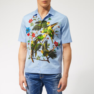 Dsquared2 Men's Popeline Bowling Shirt - Light Blue
