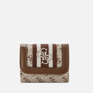 Guess Women's Vintage Small Trifold Wallet - Brown
