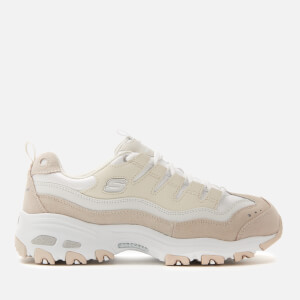 Skechers Women's D'Lites Sure Thing Trainers - Off White