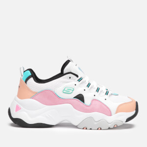 Skechers Women's D'Lites 3.0 Zenway Trainers - White/Pink/Blue