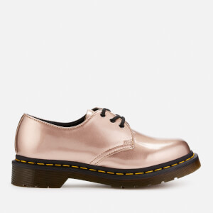 Dr. Martens Women's 1461 Vegal Chrome 2-Eye Shoes - Rose Gold
