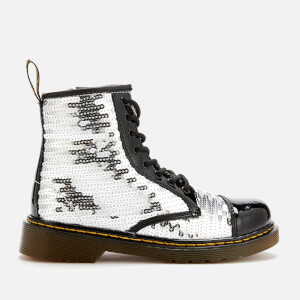 Dr. Martens Kid's 1460 Pooch Sequin 8-Eye Boots - Black