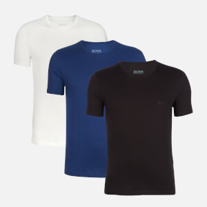 BOSS Men's 3 Pack Jersey T-Shirts - White/Blue/Black
