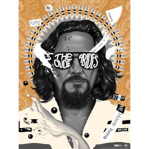 """Serigrafía El Gran Lebowski 20.º Aniversario """"The Dude Abides"""" (Variante) - Ed.Limitada Exclusiva Zavvi"""