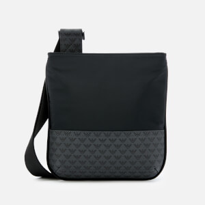 Emporio Armani Men's Small Flat Messenger - Black/Navy