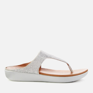 b02030c75 FitFlop Women s Banda Crystalled Toe Post Sandals - Silver