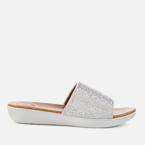 b541ab5844a810 FitFlop Women s Sola Slide Sandals - Silver