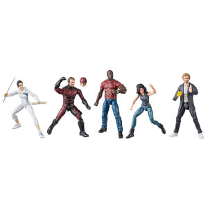 Hasbro Marvel Legends Series Defenders Rail Authority Figure SDCC (Pack of 5)