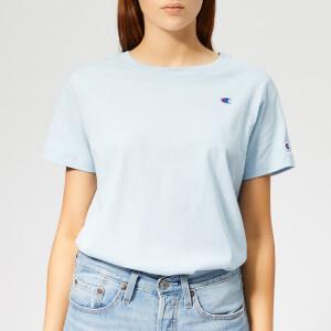 Champion Women's Crew Neck Short Sleeve T-Shirt - Blue