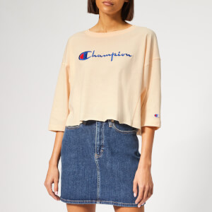 Champion Women's Cropped 3/4 Sleeve Top - Pink