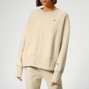 Champion Women's Crewneck Linen Sweatshirt - Off White