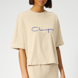 Champion Women's Cropped Linen Short Sleeve T-Shirt - Off White
