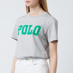 Polo Ralph Lauren Women's Big Polo Tee-Short Sleeve-Knit - Cobblestone Heather