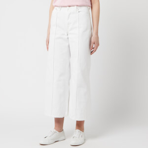 Polo Ralph Lauren Women's Wide Leg Jeans - White