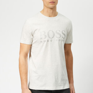 BOSS Men's Basic Large Brand Chest T-Shirt - Grey