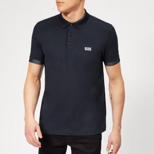 BOSS Men's Paulie Tech Polo Shirt - Navy
