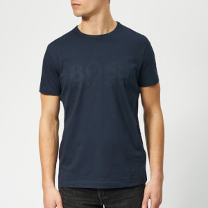 021da4841 BOSS Men's Basic Large Brand Chest T-Shirt - Navy