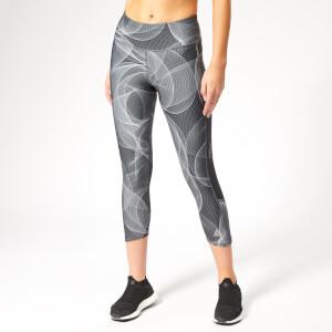 Reebok Women's OSR 3/4 Running Tights - Black Print