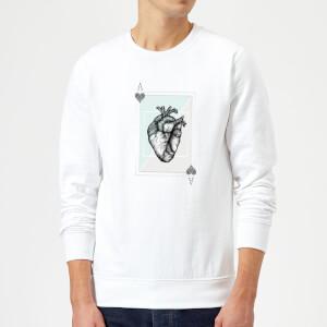Barlena Ace Of Hearts Sweatshirt - White