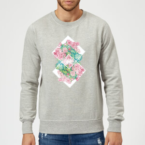 Barlena Flowers Sweatshirt - Grey