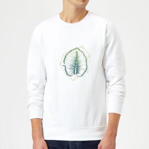Barlena Geometry and Nature Sweatshirt - White
