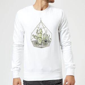 Succulent Terrarium Sweatshirt - White
