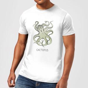 Barlena Cactopus Men's T-Shirt - White