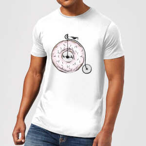 Barlena Donut Ride My Bicycle Men's T-Shirt - White