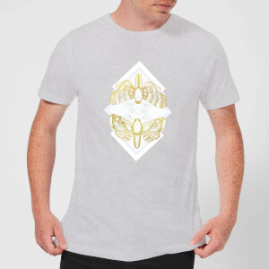 Barlena Moth Men's T-Shirt - Grey