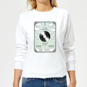 Barlena The Vinyl Women's Sweatshirt - White