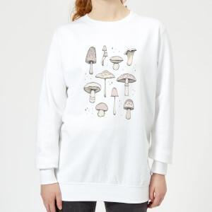 Barlena Mushrooms Women's Sweatshirt - White