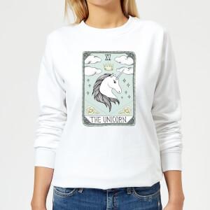 Barlena The Unicorn Women's Sweatshirt - White