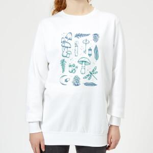Barlena Enchanted Forest Women's Sweatshirt - White