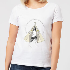 Barlena Into The Wild Women's T-Shirt - White