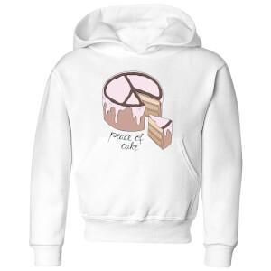 Barlena Peace Of Cake Kids' Hoodie - White