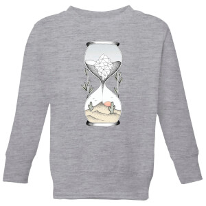 Barlena Time Is Running Out Kids' Sweatshirt - Grey
