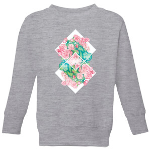 Barlena Flowers Kids' Sweatshirt - Grey
