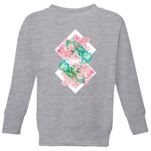 Barlena Flowers Kids' Sweatshirt - Grey