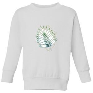 Barlena Geometry and Nature Kids' Sweatshirt - White