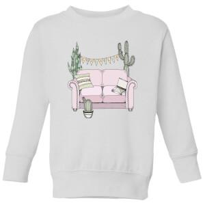 Barlena Couchella Kids' Sweatshirt - White